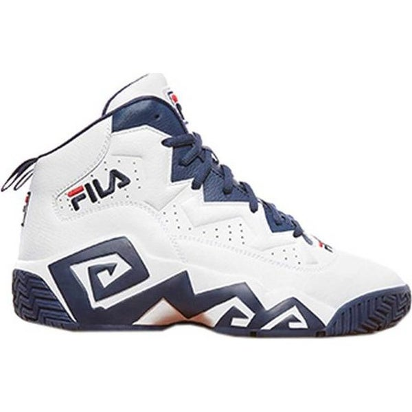 b410097cd7ec Shop Fila Men s MB Basketball Shoe Black Fila Red White - Free Shipping  Today - Overstock - 20545590