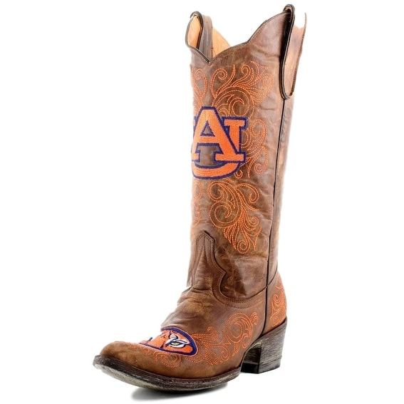 Gameday Boots Womens College Auburn Tigers Brass Orange