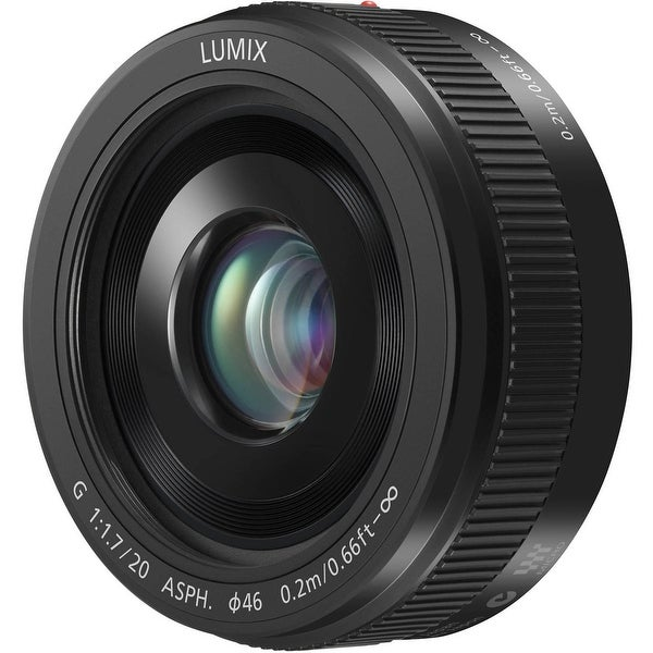 Panasonic Lumix G 20mm f/1.7 II ASPH. Lens (Black) - Black