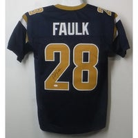 8f6aa63ed1c Marshall Faulk Autographed St Louis Rams Custom Size XL Blue Jersey JSA