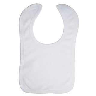 White Terry Bib with White Trim - Size - One Size - Unisex