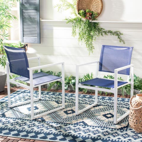 Safavieh Outdoor Living Neval Stackable Chair (Set of 2)