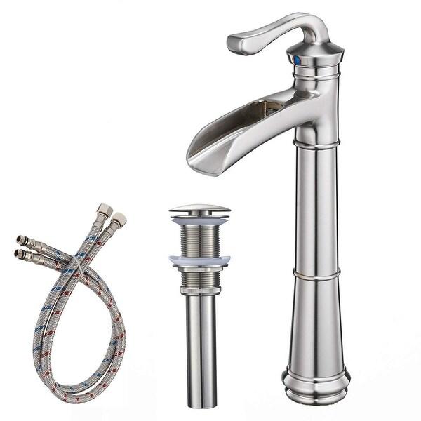 Vibrantbath Commercial Single Handle One Hole Bathroom Vessel Sink Faucet