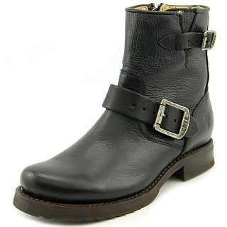 """Frye Veronica 6"""" Shortie   Round Toe Leather  Boot"""