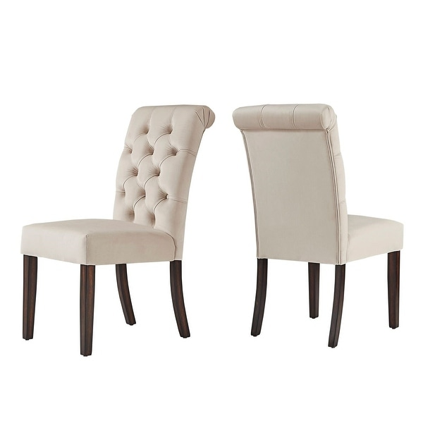 Benchwright Velvet Tufted Rolled Back Parsons Chairs (Set of 2) by iNSPIRE Q Bold
