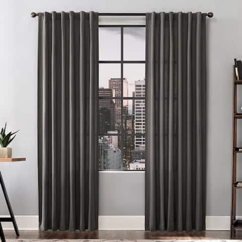 Scott Living Renato Linen Blend Semi-Sheer Back Tab Curtain Panel