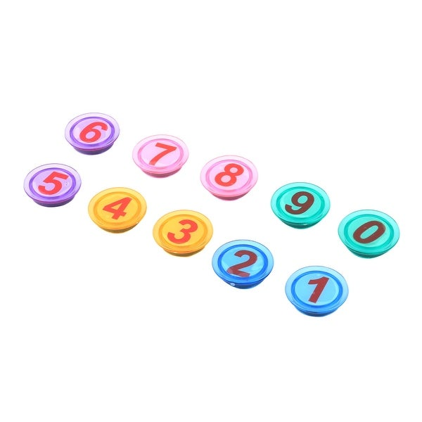 Home Plastic Cover Arabic Number Whiteboard Fridge Magnet Assorted Color 10pcs