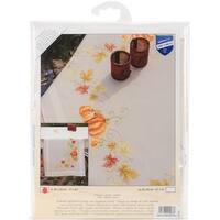 "Pumpkins Table Runner Stamped Cross Stitch Kit-16""X40"""