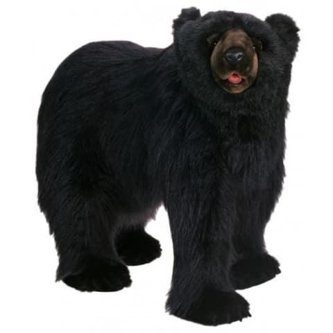 "Life-Like Handcrafted Exta Soft Plush Walking Life Size Black Bear 53"""
