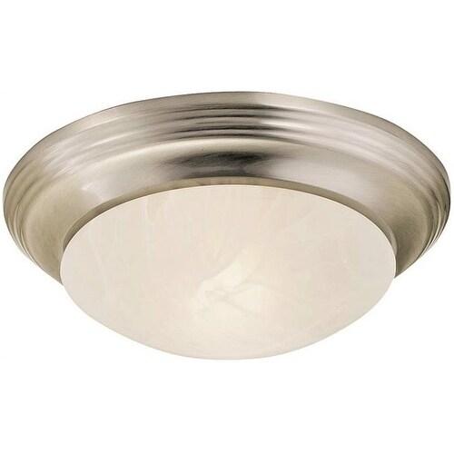 Boston Harbor 563118BN 1 Light Flushmount Ceiling Fixture, Brushed Nickel