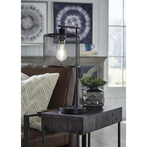 """Nolden Modern Bronze Metal Desk Lamp - 13""""W x 9""""D x 22""""H"""
