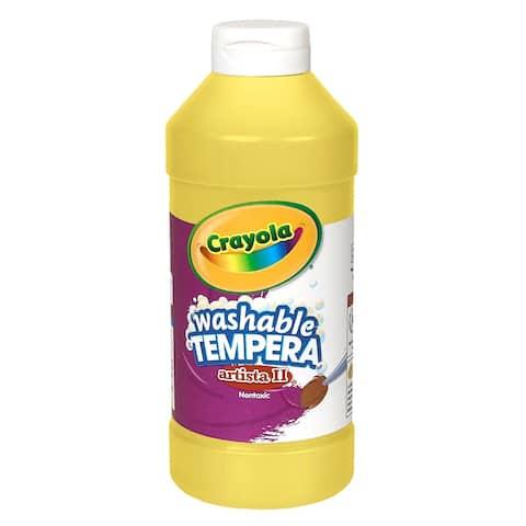 Artista II® Washable Liquid Tempera Paint, Yellow, 16 oz. Bottles, Pack of 6 - Yellow