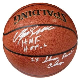 Dominique Wilkins Spalding NBA IO Basketball w2x Dunk Champ HOF 06 HHF