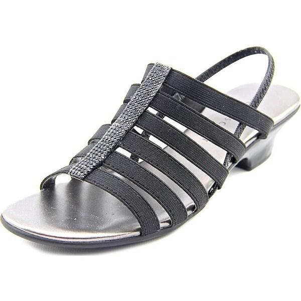 Karen Scott Womens ESTEVEE Open Toe Casual, Black, Size 8.0