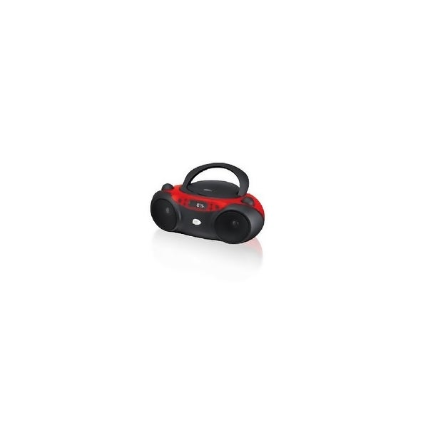 GPX KV7814W GPX Inc Portable Top-Loading CD Boombox with AM-FM Radio and 3-5mm Line In for MP3 Device