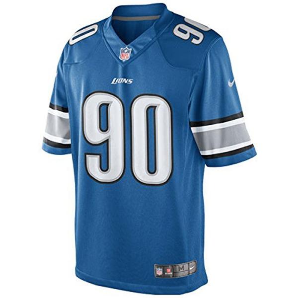 NFL Jersey Detroit Lions #90 Limited Light Blue, Medium - Light Blue