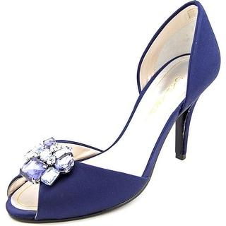 Caparros Veranda Women Peep-Toe Canvas Blue Heels