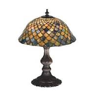 "Meyda Tiffany 27170 15"" H Tiffany Fishscale Accent Lamp"