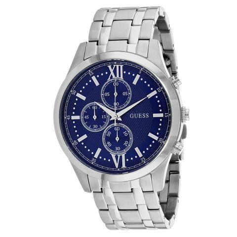 Guess Men's Hudson W0875G1 Blue Dial Watch