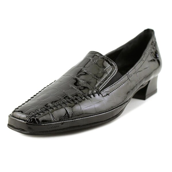 Amalfi By Rangoni Matta Women Round Toe Patent Leather Black Loafer