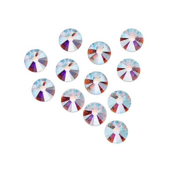 Swarovski Elements Crystal, Round Flatback Rhinestone SS30 6.5mm, 25 Pieces, Crystal AB