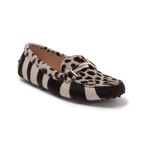 Tod's Women's Double T Loafers In Animal Print