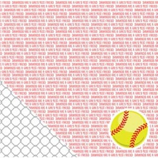 "Softball Sentiments - American Crafts Sport Double-Sided Cardstock 12""X12"""