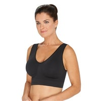 056816ee2 Ahh by Rhonda Shear Women s Generation Seamless Leisure Bra with Removable  Pads