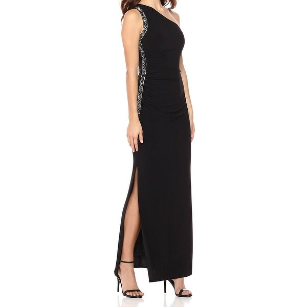 Shop Laundry by Shelli Segal Black Womens Size 4 One Shoulder Gown Dress -  Free Shipping Today - Overstock.com - 26999146 c81f4216bf
