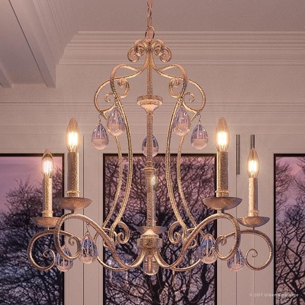 Luxury french country chandelier 245h x 28w with shabby chic style shimmering design antique gold finish luxury french country chandelier 245h x 28w with shabby chic aloadofball Gallery