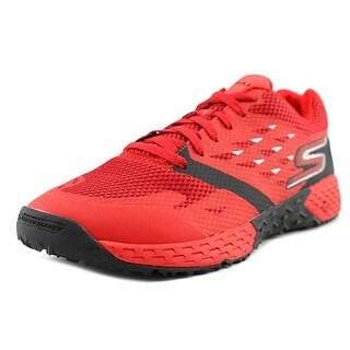 Skechers Go Train-Endurance Men Round Toe Synthetic Red Cross Training