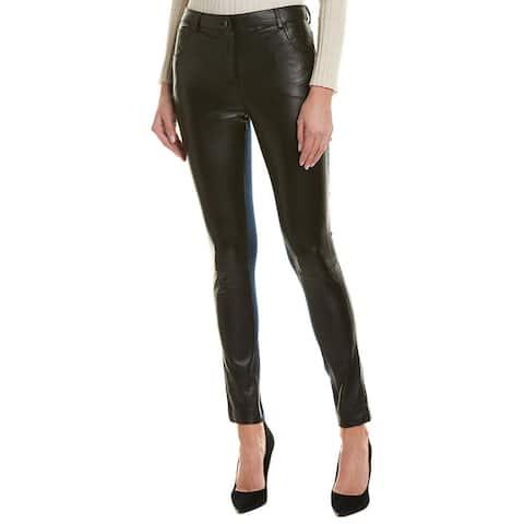 Nicole Miller Artelier Leather Front Skinny Leg