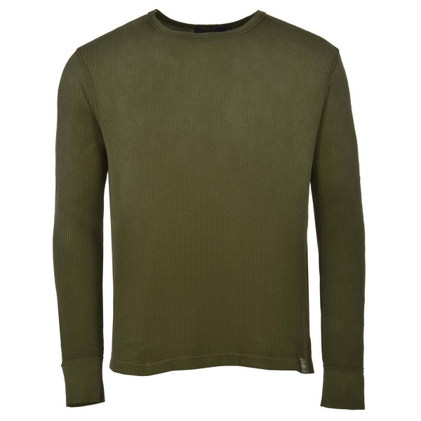 Polo Ralph Lauren Long Sleeve Waffle Knit Thermal Shirt X-Large Green