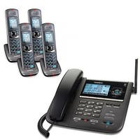 Uniden DECT4096-4 4 Handset Expandable Corded Cordless Phone 2-Line DECT 6.0 New
