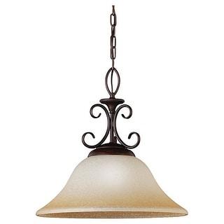 Sea Gull Lighting 65105-72 Monteclaire One-Light Pendant, Olde Iron Finish - olde iron