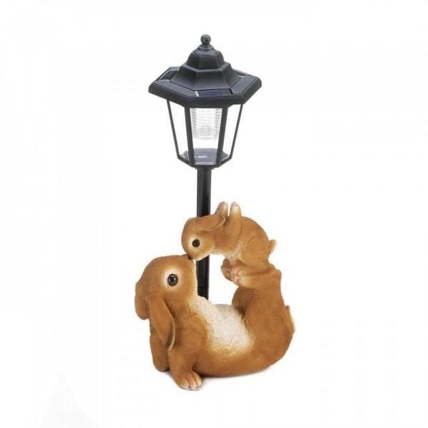 Two Animal Figurine Solar Lamp