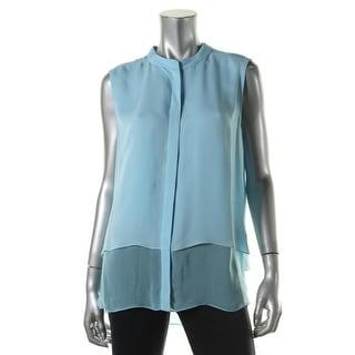 Elie Tahari Womens Silk Tiered Pullover Top - M