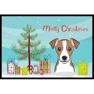 Carolines Treasures BB1632MAT Christmas Tree & Jack Russell Terrier Indoor or Outdoor Mat 18 x 27