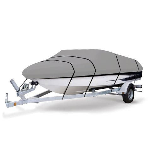 Gymax Heavy Duty 600D Marine Grade Polyester Canvas Trailerable