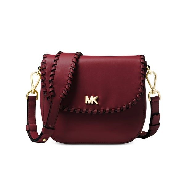 8959c2172310 MICHAEL Michael Kors Half Dome Stitched Leather Crossbody Bag Oxblood Gold  - One size