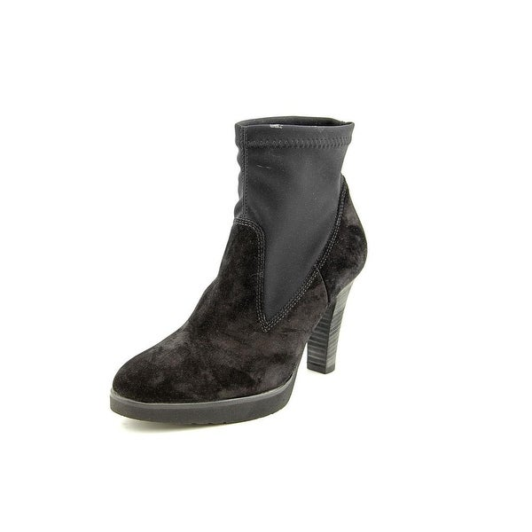 Paul Green Arden Women  Round Toe Suede Black Ankle Boot