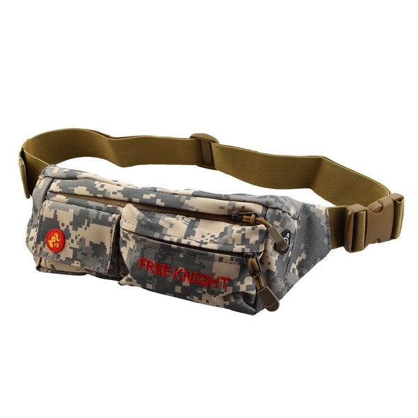 FreeKnight Authorized Running Jogging Sports Pouch Waist Bag Camouflage Gray
