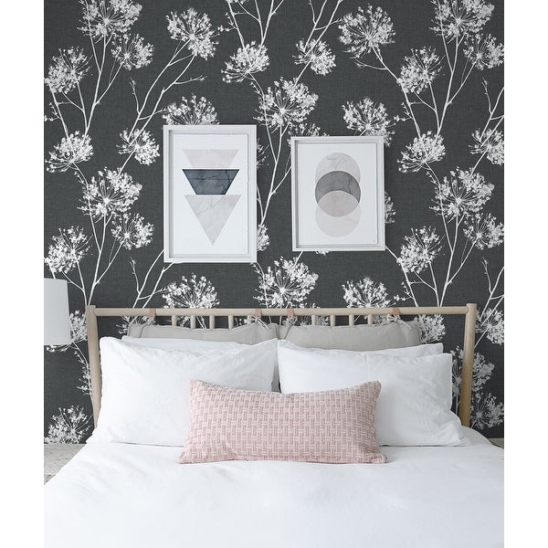 NextWall One O'Clocks Botanical Peel and Stick Removable Wallpaper. Opens flyout.