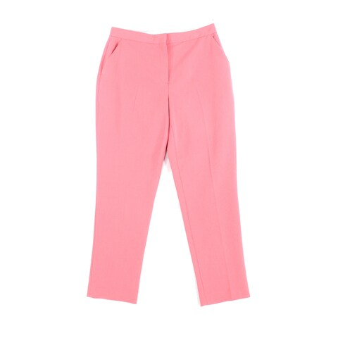 Topshop Pink Womens Size 8 Cropped Stretch Flat Front Dress Pants