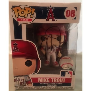 Mike Trout Autographed Los Angeles Angels Signed Baseball Funko Pop PSA DNA COA 2