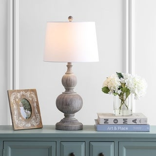 """Link to Safavieh Lighting 29-inch Ephraim Brown LED Table Lamp (Set of 2) - 15""""x15""""x28.5"""" Similar Items in Table Lamps"""