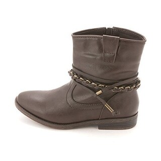 Sugar Womens Texora Almond Toe Ankle Motorcycle Boots