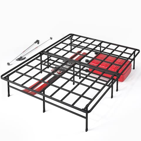 Priage by ZINUS SmartBase Super Heavy Duty Mattress Foundation, 14 Inch Metal Platform Bed Frame