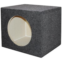 Qpower QSMPSQ10E 10 in. Square Empty Woofer Box