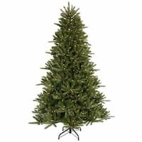 9.5' Pre-Lit Vermont Fir Instant Shape Artificial Christmas Tree - Clear Lights - green